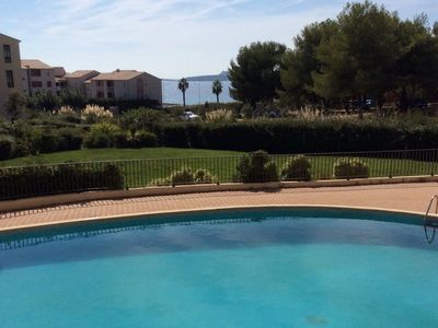 Photo for Nice T3 duplex sea view and pool