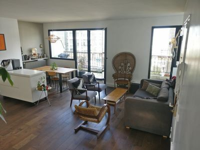 Photo for Bright spacious architect's apt near park + balcony + view of Sacre Coeur!