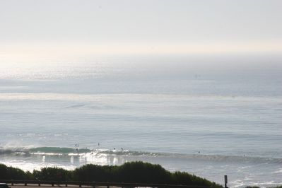 Unobstructed views of Pipes beach and surf break from your patio and living area