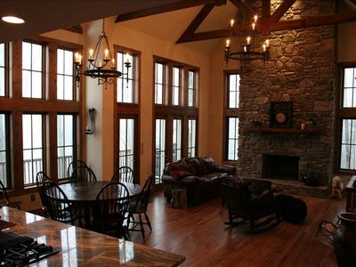 Photo for Rustic Luxury at 4700' - Views, Hot Tub, Fireplace & Suites