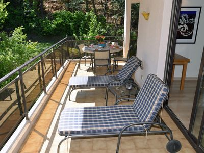 Photo for Quiet, exclusive and charming flat up to 5 people close to the beach - WIFI, AC