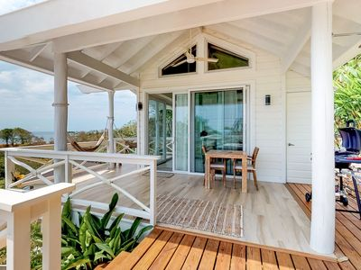 Photo for NEW LISTING! Romantic getaway w/ sea views, hammock & outdoor dining!
