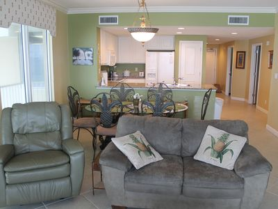 Well Appointed 2nd Floor, 3 Bedroom, 2 Bath Beach Front Corner Unit.
