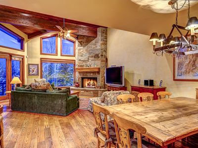 Photo for Ski right to the door of this lovely mid-mountain townhome! Hot Tub, Great Views