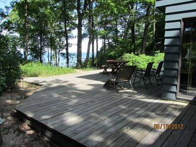 Large deck for outdoor living