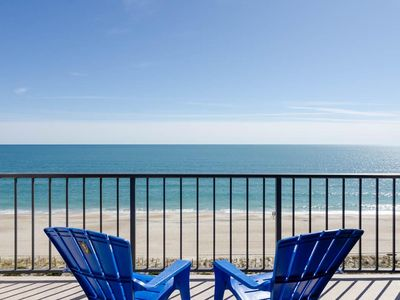 Photo for Wonderful top floor ocean front condo with pool and gorgeous views