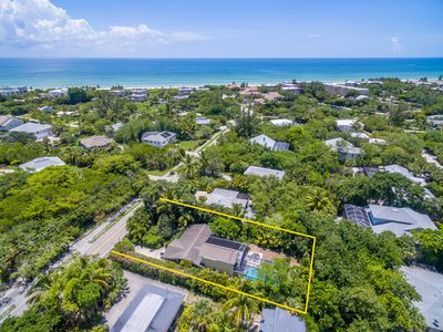 Photo for Now Reduced for May-Oct 2019 ! Less than a block to the beach ! Three Bedroom Pet Friendly Pool Home !