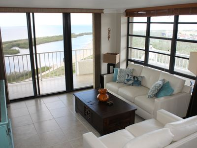 Photo for OCEANFRONT with LARGE, WRAP-AROUND patio - views to the West, North and East!
