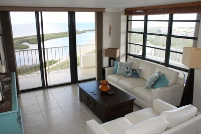 Living Room with views of Tiger Tail Beach