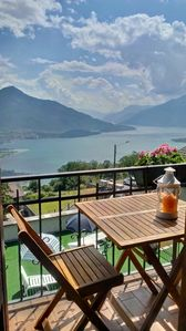 Photo for Apartment with stunning views of Lake Como in the quiet of the mountains.