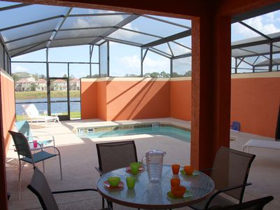 Photo for Paradise Palms 4BR, Pvt Pool, Lakeside, Extended Lanai