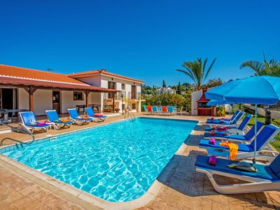 Photo for Androniki Huge Luxury Villa with Sea & Mountain Views, Pool, BBQ, WiFi, A/C