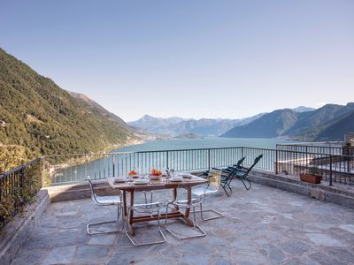 Photo for Bella Vista Sul Lago Argegno. A newly renovated property with 180° views