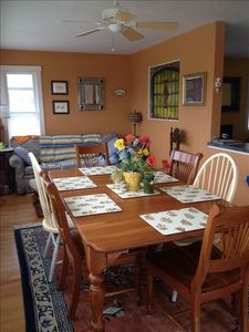 dining area and sun porch