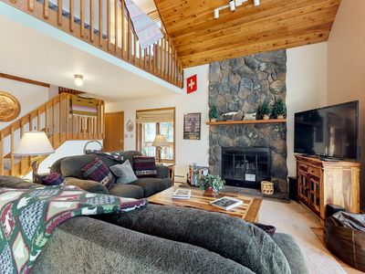 Photo for NEW LISTING! Hand-built, mountain view cottage w/sunroom, deck-1 mile to Main St