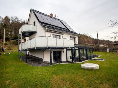 Photo for Weinberghaus Prossen, Exclusive house with view, fireplace, whirlpool and sauna