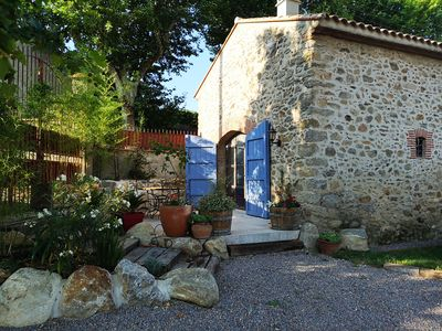 Photo for Beautifully renovated barn (with pool) in the centre of Laroque des Alberes