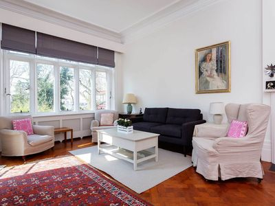 Photo for Spacious and Light 2 bed apartment by Holland Park, sleeps 4 (Veeve)