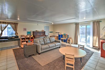 Inside, you'll find 1,300 square feet of comfortable living space.