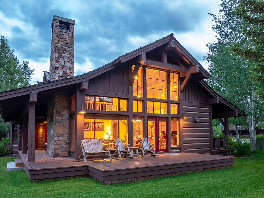 The cabin moose creek a jackson hole golf homeaway for Stazione di jackson hole cabin