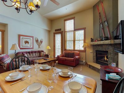 Photo for NEW LISTING! 3-level townhouse w/shared pool, hot tub & sauna - walk to slopes