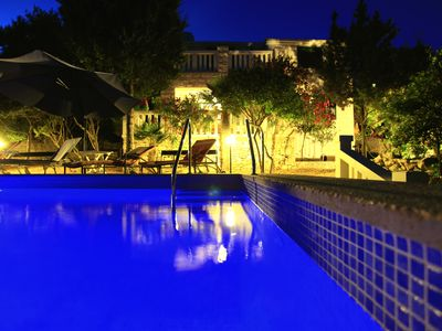Photo for Beach villa with pool, boat dock, parking for 8 persons Korcula