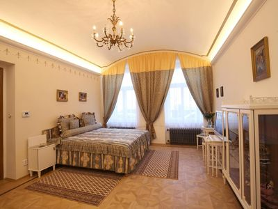 Photo for The romantic luxury apartment is located on the ground floor of a house from the year 1890