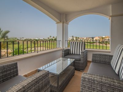 Photo for Spacious Apartment with Large Terrace Overlooking the Golf course- MURCIA VACATIONS - MO2823lt