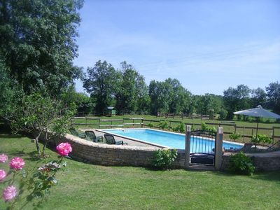 Photo for Authentic cottage, farmhouse, private pool, near Caylus / Saint Antonin Noble Val