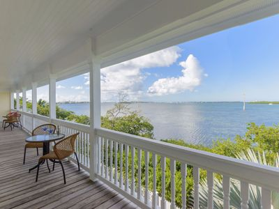 Photo for Elegant, waterfront home w/ private pool and covered deck with ocean views