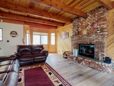 Photo for NEW LISTING! Cozy family home with wraparound deck - close to Snow Summit