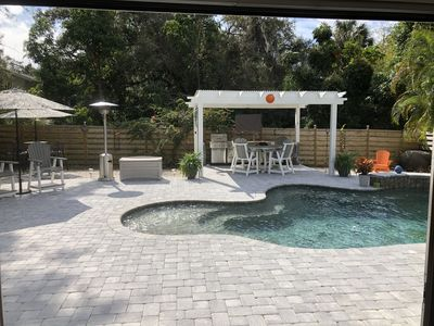Outdoor Kitchen and Pool Area