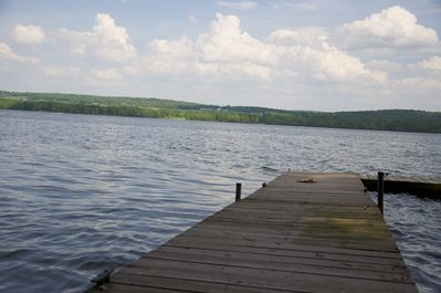 View from dock.  'L' shaped dock has been re-juvenated since this picture as part of our Work in Progress!