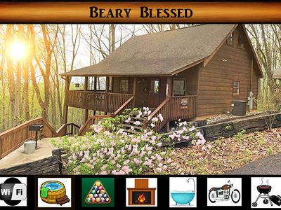 Photo for Beary Blessed} Private Setting \ Hot Tub \ Wifi \ Pool Table \ Jacuzzi Tub