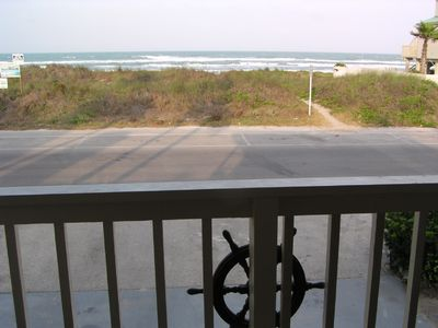 Beach front viewed from upstairs balcony