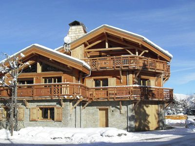 Photo for Beautiful chalet with a fireplace only 50m from the slopes