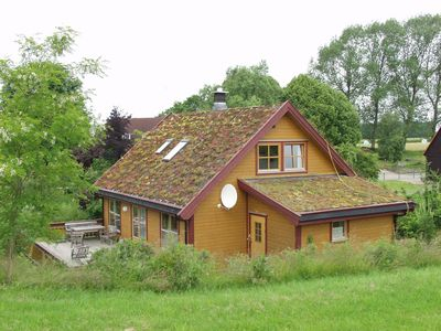 Photo for Exclusive wooden house 130 m2 on 2500 m2 grounds with a sauna, like pets,