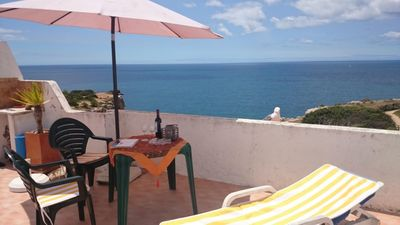 Photo for Large private roof terrace with sea views, aircon, 5 minutes to the beach, wifi