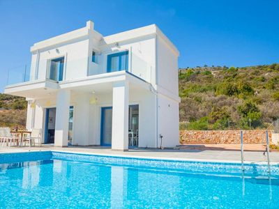Photo for Villa Seahorse: Large Private Pool, Walk to Beach, Sea Views, A/C, WiFi, Eco-Friendly
