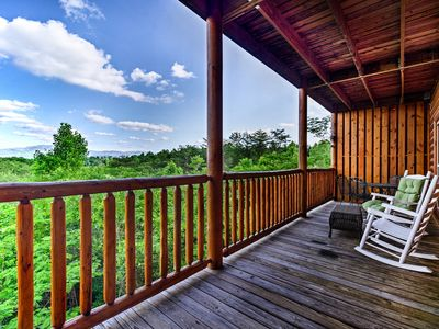 Photo for NEW! Pigeon Forge Area Cabin w/Hot Tub & Theater!
