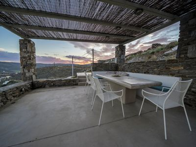 Photo for Holiday residence near the sea overlooking Aegean Archipelago.