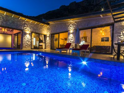 Photo for Honeymoon Villa with Totally Private Outdoor Pool, Heated Indoor Pool & Views