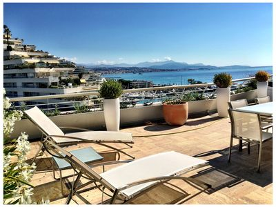 Photo for Beautiful fully renovated condo on the French Riviera coastline