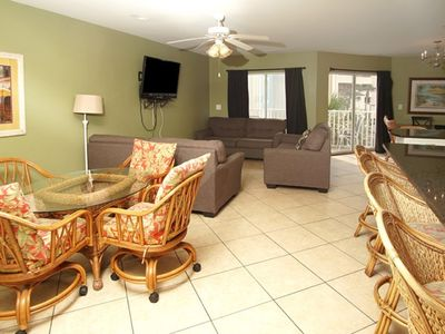 Photo for Ambassador Villas 203, Spacious 8 BR Beach Front Condo with a Swimming Pool and Hot Tub