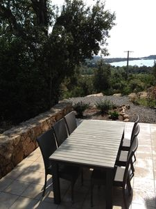 Photo for PORTO-VECCHIO, Sea view terrace 2km from the beach