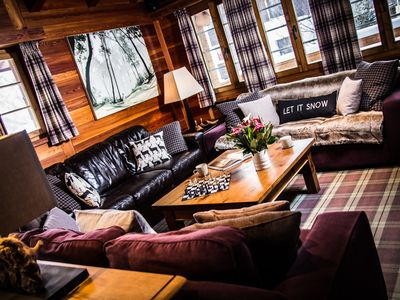 Photo for Luxury, Traditional 6 Bedroom Chalet in Sunniest Location in Saas-Fee