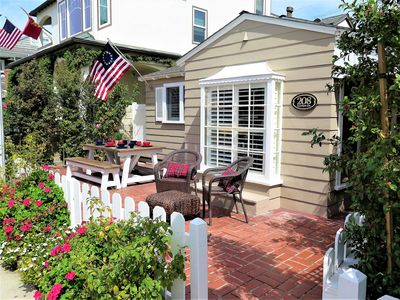 Enjoy comfortable outdoor living on your large patio. The front