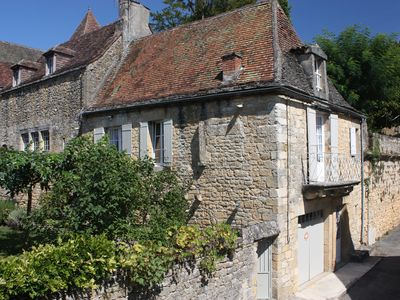 Photo for Delightful, sunny village house & garden in the heart of the bastide of Domme