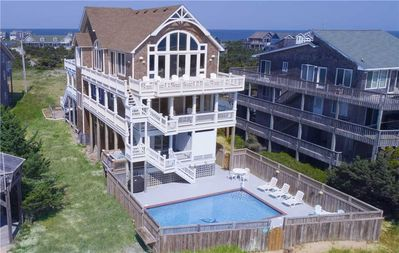 Photo for Oceanfront Avon w/Panoramic View-Pool, Hot Tub, Elevator, GameRm, Steps to Beach