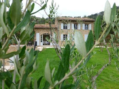 Photo for Superb Secluded Provençal Stone House with heated pool from May to October